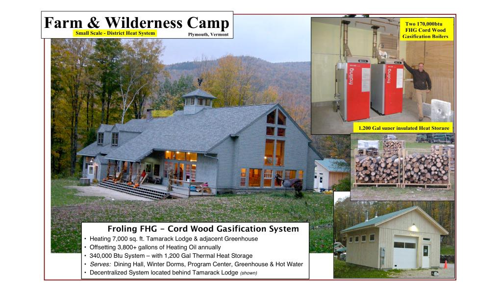 Farm & Wilderness - Cord Wood System,